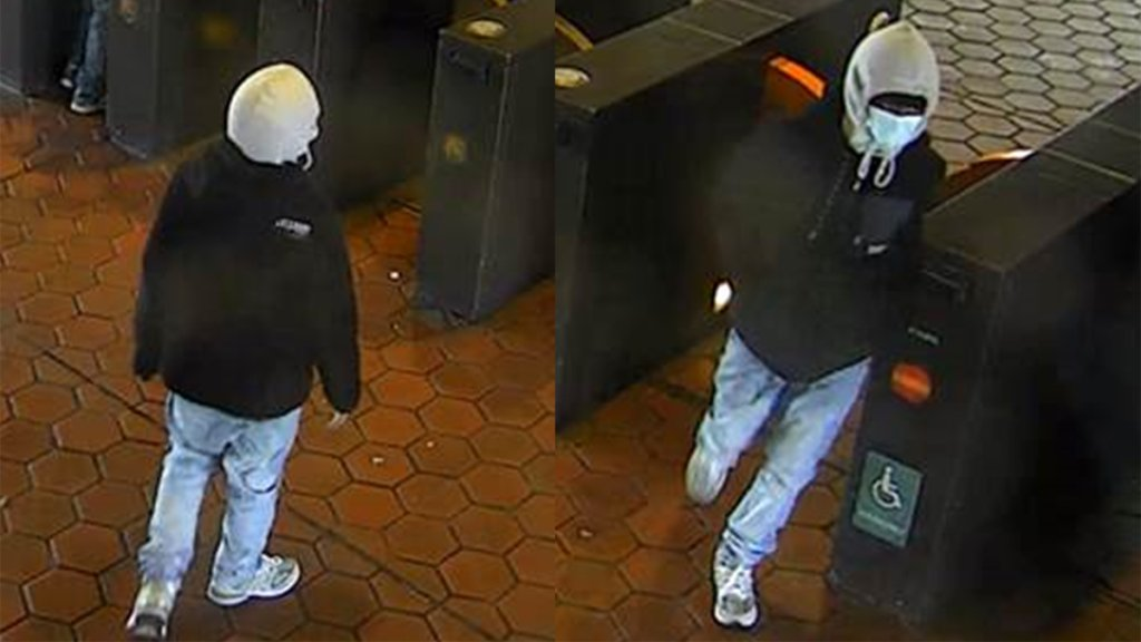 The suspect in the Anacostia Metro Station shooting is seen in these surveillance images.