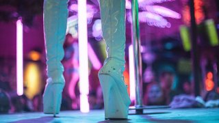 Low Section Of Dancer at Strip Club