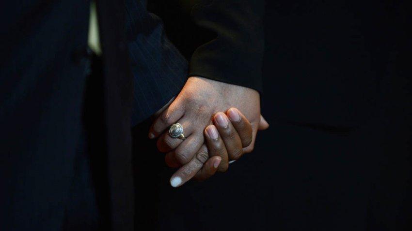hand holding at Shiloh Baptist Church