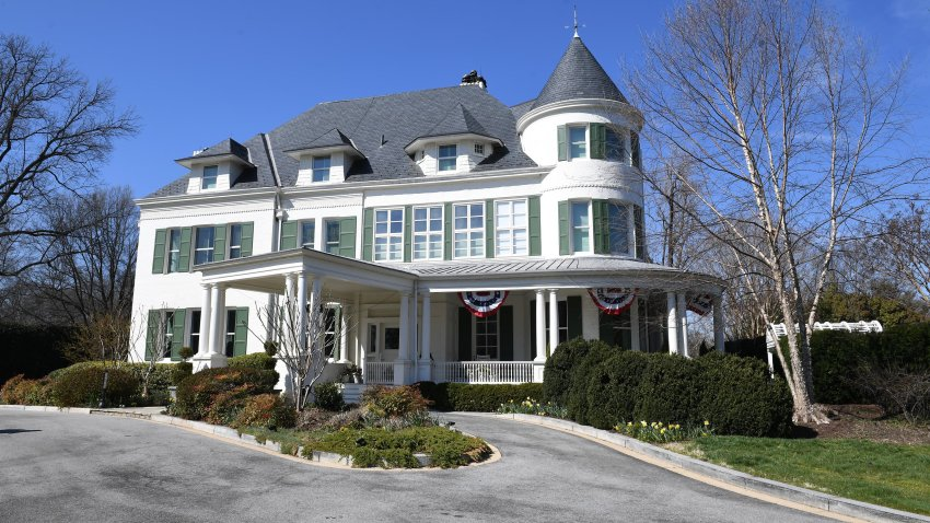 The residence of the Vice President on the grounds of the United States Naval Observatory.