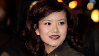 """In this Nov. 11, 2010, file photo, British actress Katie Leung arrives at a cinema in London's Leicester Square for the world premiere of """"Harry Potter and the Deathly Hallows Part 1."""""""