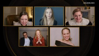 Pictured in this screengrab released on February 28, (l-r) Best Performance by an Actress in a Television Series – Drama nominees Olivia Colman, Jodie Comer (pictured), Emma Corrin, Laura Linney (with Marc Schauer), and Sarah Paulson speak during the 78th Annual Golden Globe Awards broadcast on February 28, 2021.