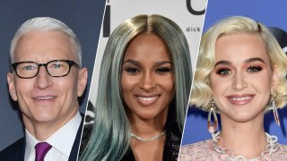 From left to right: Anderson Cooper, Ciara and Katy Perry.