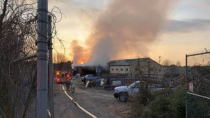 Firefighters responded to a report of a barn fire on March 8, 2021, at Roer's Zoofari in Reston, Virginia, that ended in the deaths of two giraffes.