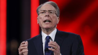 ORLANDO, FLORIDA - FEBRUARY 28: Wayne LaPierre, National Rifle Association, addresses the Conservative Political Action Conference held in the Hyatt Regency on February 28, 2021 in Orlando, Florida. Begun in 1974, CPAC brings together conservative organizations, activists, and world leaders to discuss issues important to them.