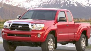 The St. Mary's County Sheriff's Office says a red Toyota Tacoma TRD pickup truck like this one struck and killed a pedestrian.