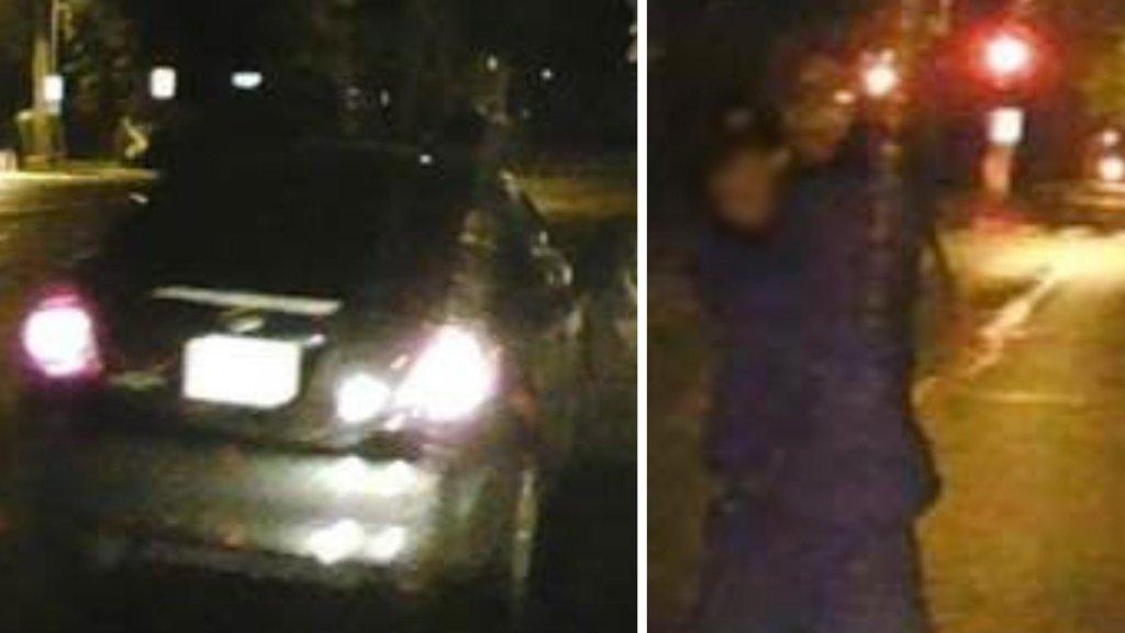 dc road rage attack suspect and car blur