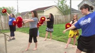 Polynesian group dance practice