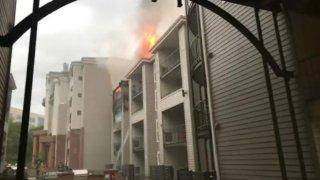 Arlington apartment fire