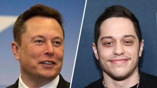 Elon Musk (left) and Pete Davidson (right).