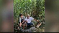 Maryland Man Catches 7.5 Foot Alligator Near Chesapeake Bay