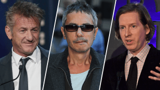 Sean Penn (left), Leos Carax (center) and Wes Anderson (right)