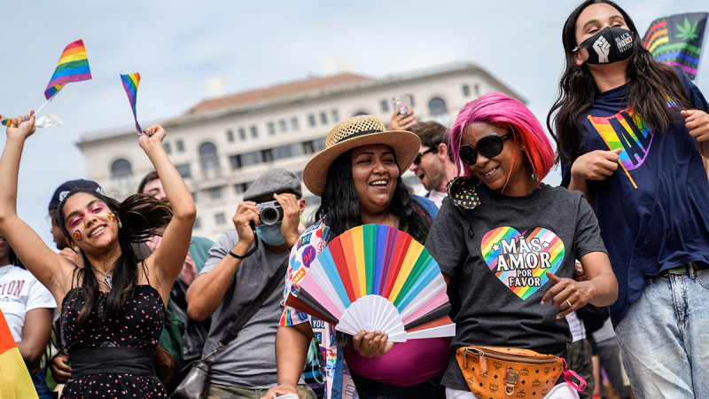 In Photos: LGBTQ+ Pride March, Car Parade Gathers Crowds in DC