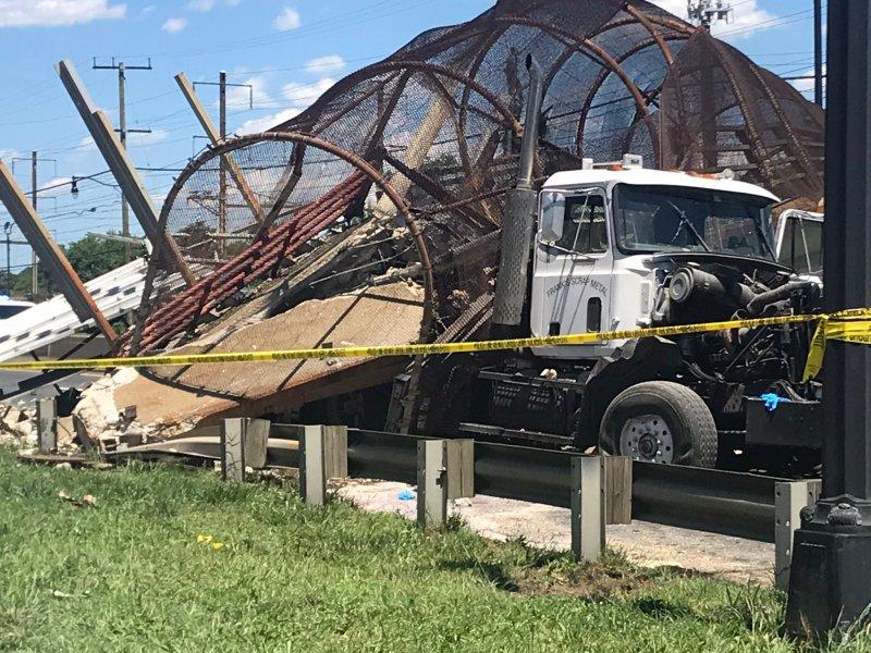 Photos: Pedestrian Bridge Collapses Onto 295 in DC; 6 Hurt
