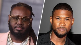 T-Pain (left) and Usher (right).