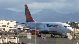 Transair Beoing 737 Cargo Jet