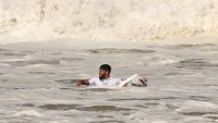 Oh Snap! Surfer's Board Breaks During Opening Minutes of Gold Medal Matchup