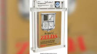 This photo provided by Heritage Auctions shows Nintendo's The Legend of Zelda.
