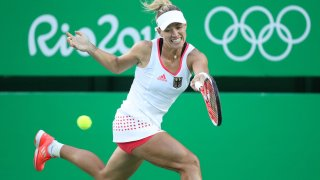 Angelique Kerber competes at the Rio Olympics