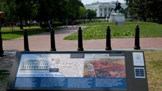 white house enslaved people plaque