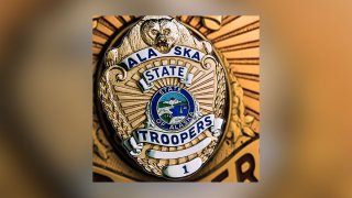File photo of an Alaska State Troopers badge.