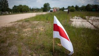Belarusian Opposition Protests At The Border