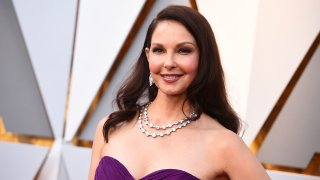 FILE - Ashley Judd arrives at the Oscars on March 4, 2018, at the Dolby Theatre in Los Angeles.
