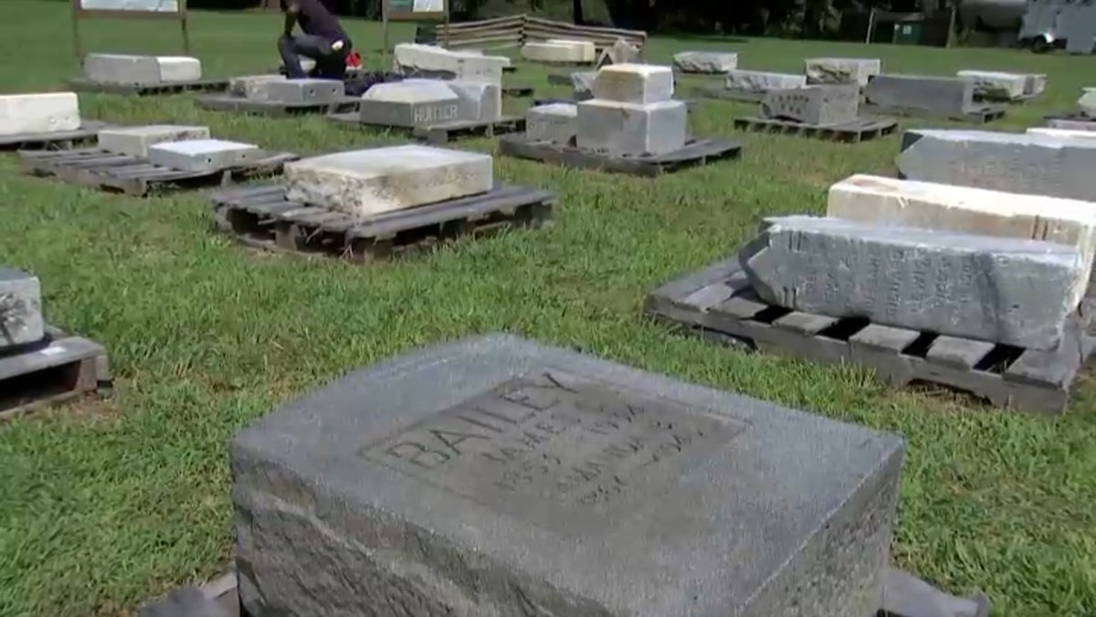 Gravestones from Historic African American Cemetery That Were Once Dumped in Potomac River Are Being Relocated