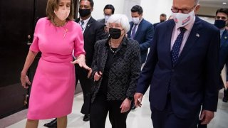Treasury Secretary Janet Yelle Nancy Pelosi Chuck Schumer