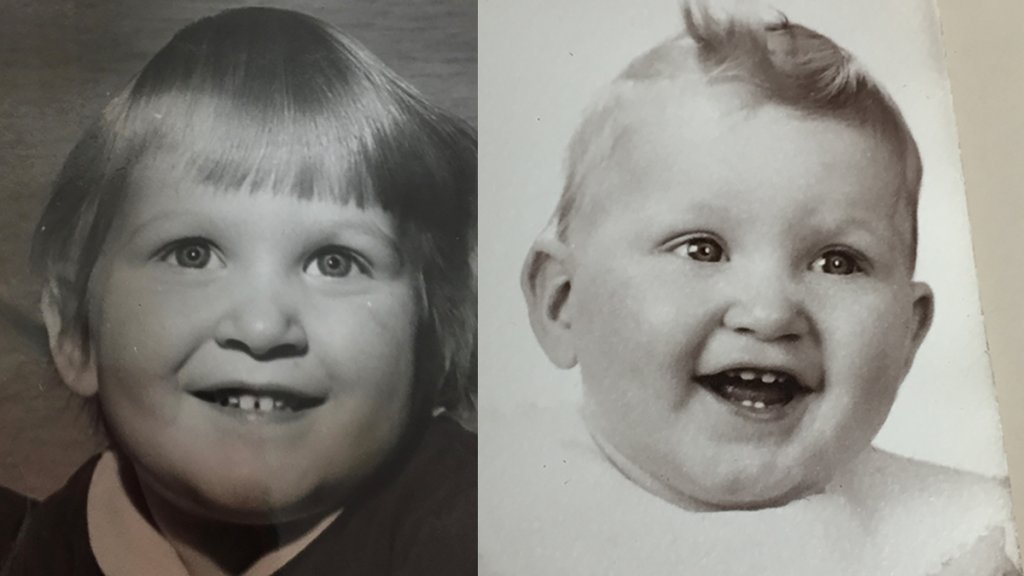 Kathy Gillchrist as a child