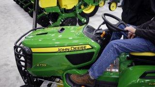 Deere Co. John Deere riding lawnmower
