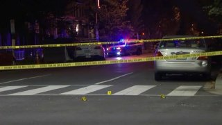 Southeast DC shooting scene on October 8