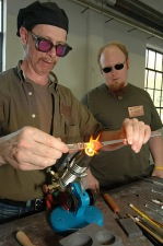 Creating Molten Glass into Art at Sunspots Studio