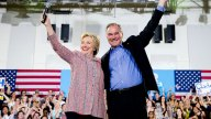 Clinton 'Thrilled' With VP Pick Tim Kaine