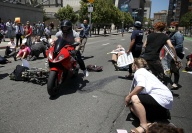 Motorcyclist Detained After Running Through Healthcare Protesters in San Francisco