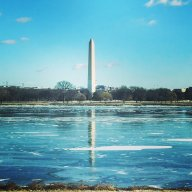[UGCDC-CJ]Back in DC. Icy mirror in front of the Washington monument. #itscold #dcwinter @nbcwashington @ABC7B
