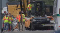 3 Cars, 3 Bodies Extracted From Under Fallen Pedestrian Bridge