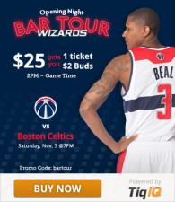 Beal, 19, Featured In Wizards Bar Tour Ad