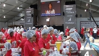AARP Volunteers Pack Meals for the Elderly on 9/11