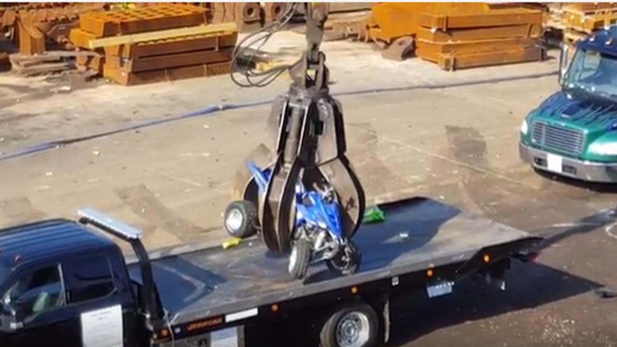 DC Police Crush 62 Seized Dirt Bikes, ATVs