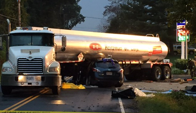 100 Gallons of Gas Spill Onto Va. Road After Crash