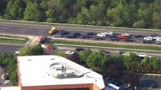 Crash Blocks All Lanes on WB I-370 in Gaithersburg for Hours