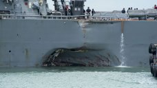 USS McCain Collides With Oil Tanker; 10 Sailors Missing