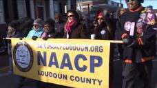 NAACP Holds Unity March After KKK Flyers Found in Virginia