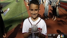 Young Mets Fan Roots for Nats' Max Scherzer