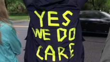 'Yes We Do Care': Local Mothers Protest Outside DHS