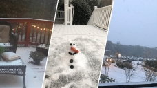 Photos: Early Winter Weather Arrives in DC Area