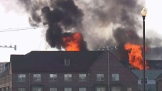Photos: Fire Erupts at Seniors Home Near Navy Yard