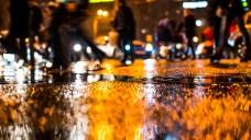 Many Pedestrians Stuck in Bus, Car Crashes on Rainy DC Night