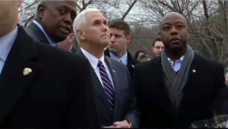 Pastor Speaks Up on Reported Trump Comments While VP Listens